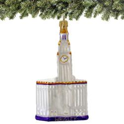Glass Chicago Wrigley Building Christmas Ornament