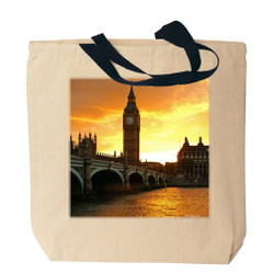 London's Big Ben Canvas Tote Bag