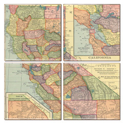 California Map Coaster Set of 4