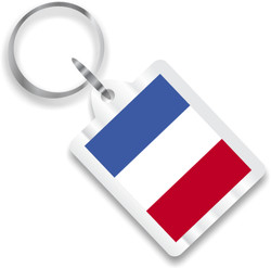 French Flag Plastic Key Chain