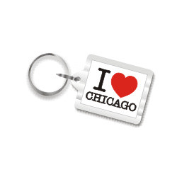 I Love Chicago Key Chain