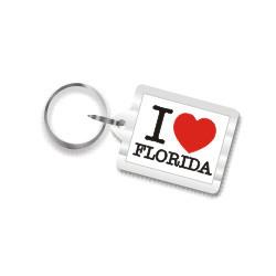 I Love Florida Plastic Key Chain