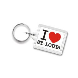 I Love St. Louis Plastic Key Chain