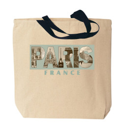 Paris Canvas Tote Bag