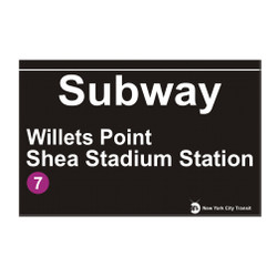 Willets Point Subway Station Shea Stadium Magnet