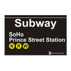 Print Street Station Subway SoHo Magnet