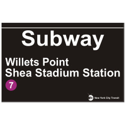 Shea Stadium Subway Sign Willets Point