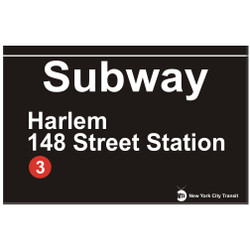 Replica Harlem 148th Street Station Subway Sign