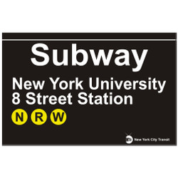 NYU & 8th Street Replica Subway Sign