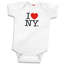 White I Love NY Onesie