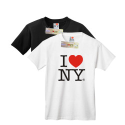 Kids I Love NY T-Shirts in white and black