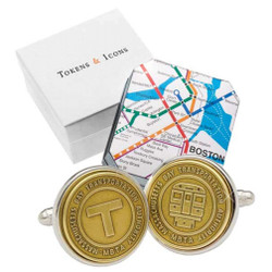 Transit Token Boston Cufflinks
