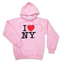 Pink I Love NY Sweatshirt and Hoodie