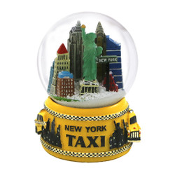 NYC Taxi Snow Globe Skyline