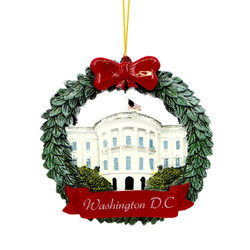 Washington DC Wreath Ornament