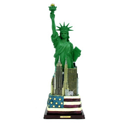 21 Inch Statue of Liberty Statue with Skyline Base