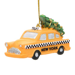 NYC Taxi and Christmas Tree Ornaments