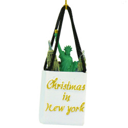 Landmark Shopping Bag New York Christmas Ornament