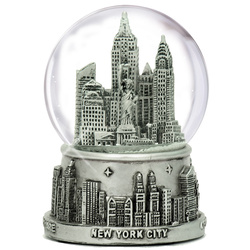 New York City snow globe 65mm skyline of NYC souvenir