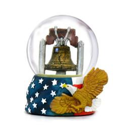 Patriotic Philadelphia Liberty Bell Snow Globe
