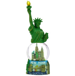 Statue of Liberty Statue and Statue of Liberty Snow Globe Combo