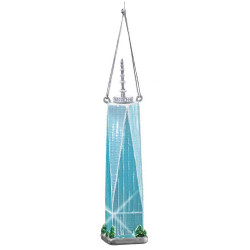 Freedom Tower Christmas Ornament Glass