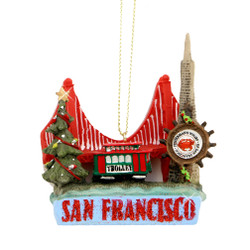 San Francisco Landmarks Christmas Ornaments