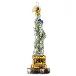 Statue of Liberty Christmas Ornament Glass