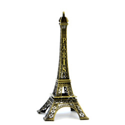 Eiffel Tower replica statue souvenirs from Paris, 10 inches