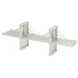 Brooklyn Bridge replica, wire model