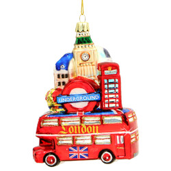 London Bus and Landmarks Ornaments