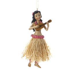 Hawaiian Hula Ukulele Ornaments
