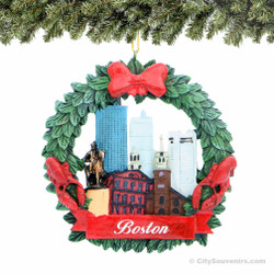 Boston Wreath Ornament