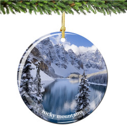 Colorado Rocky Mountains Christmas Ornament