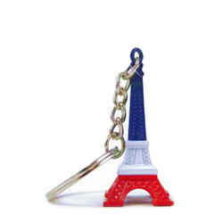 Red, White and Blue Eiffel Tower Key Chain