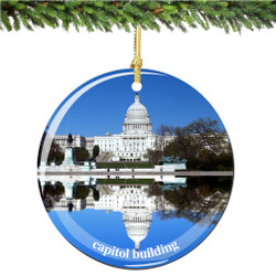 US Capitol Building Christmas Ornament