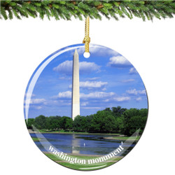 Washington Monument Christmas Ornament