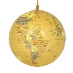 Antique World Globe Christmas Ornament