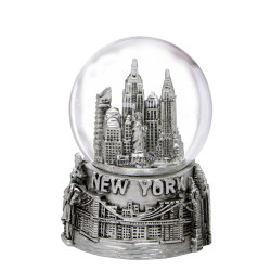 Mini Silver New York City Skyline Snow Globe