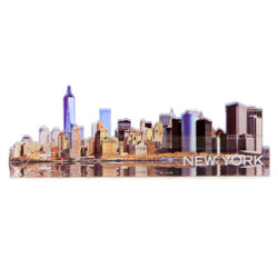 New York City Downtown Skyline Magnet Acrylic