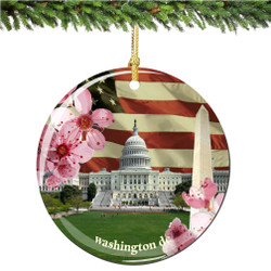 Washington DC Christmas Ornament Porcelain