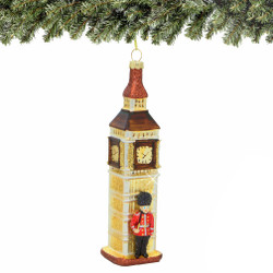 Royal Guard and Big Ben Christmas Ornament, Glass