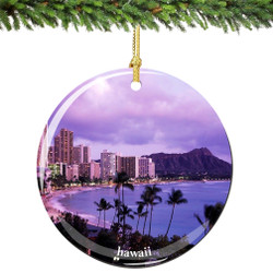 Hawaii Christmas Ornament