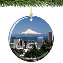 Portland Oregon Christmas Ornament