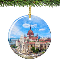 Budapest Porcelain Christmas Ornament