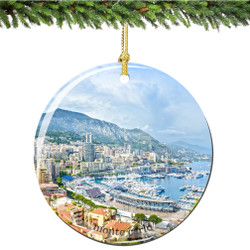 Monte Carlo, Monaco Porcelain Christmas Ornament