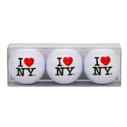 I Love NY Golf Ball Set of 3
