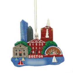 Boston Landmarks Ornament for Personalization