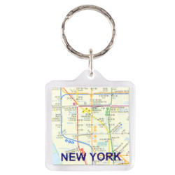 NYC Subway Key Chain