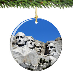 Mount Rushmore Christmas Ornament Porcelain